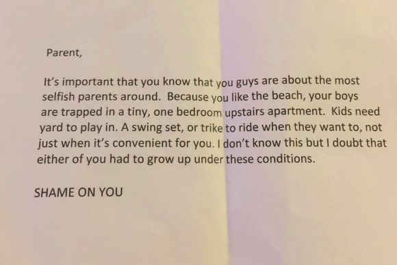 carta 2 família praia