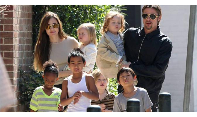 Família Angelina Jolie e Brad Pitt
