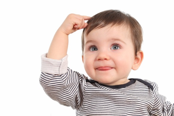 baby-thinking-an-idea-picture-id158230933