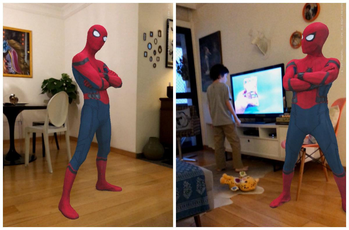 O Homem Aranha estava na minha sala