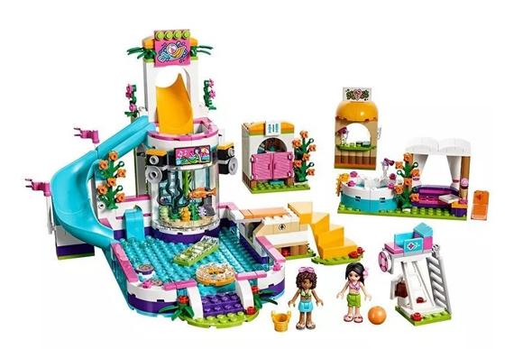 Piscina de verão de Heartlake, Lego, R$369,99 - www.legobrasil.com.br