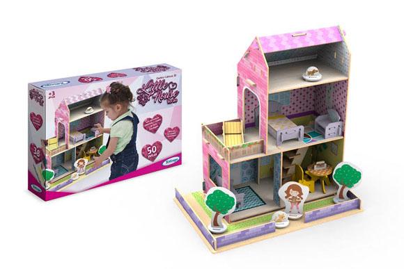 Casinha de Madeira Reflorestada Little House Verão, Xalingo, R$69,90 - www.xalingo.com.br