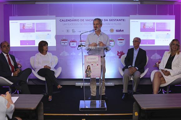 """Lançamento da Campanha """"Calendário de Vacinação da Gestante: um sucesso de proteção para mãe e filho"""" (Foto: Divulgação)"""