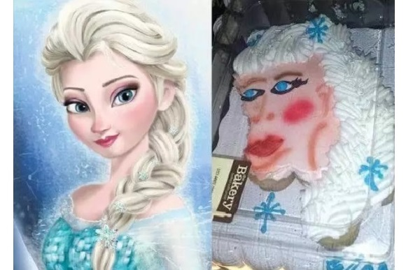 Valeu a tentativa 10 bolos de aniversrio do filme frozen que no foto reproduo cakewrecks stopboris Images