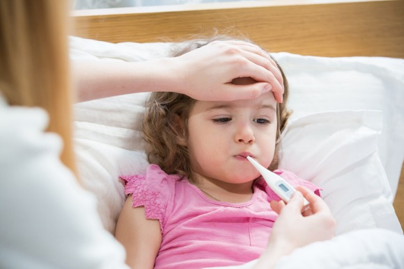 sick-child-with-high-fever-picture-id612381692