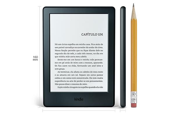 Kindle com wi-fi e sensível ao toque. R$299, amazon.com - Foto: Divulgação