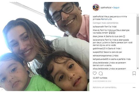 Sasha, Mikael e David, filhos de Luciano Szafir (Foto: Reprodução/ Instagram @szafiroficial)