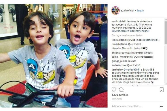 Filhos de Luciano Szafir e Luahanna Melloni (Foto: Reprodução/ Instagram @szafiroficial)