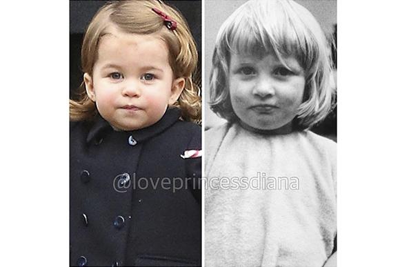 Princesa Charlotte e suas semelhanças com sua avó, a Princesa Diana (Foto: Reprodução/ Instagram @loveprincessdiana)