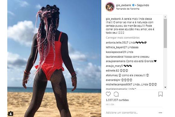 Titi aproveita férias em Fernando de Noronha (Foto: Reprodução/ Instagram @gio_ewbank)