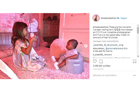 Penelope Kardashian e True Thompson (Foto: Reprodução Instagram/ @khloekardashian)
