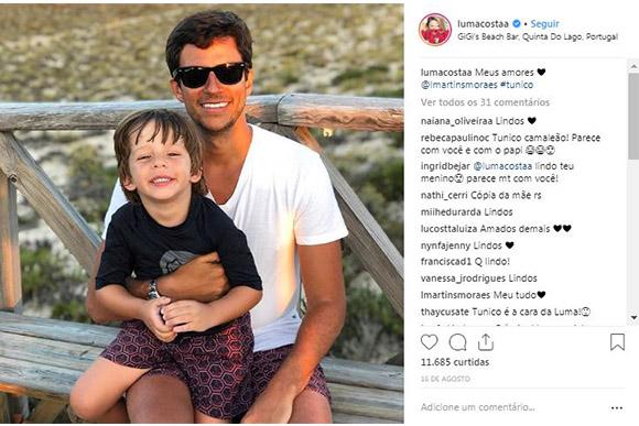 Marido e Filho de Luma Costa (Foto: Reprodução/ Instagram @lumacostaa)