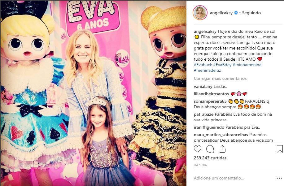 Eva mostra toda sua semelhança com a mãe (Foto: Reprodução/Instagram @angelicaksy)