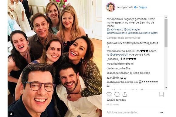 Celso Portiolli, Sabrina Sato, Duda Nagle. Tom Cavalcanti e outros famosos comemoram aniversário de filha de Eliana (Foto: Reprodução/ Instagram @celsoportiolli)