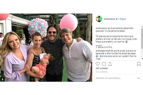 Eliana comemora um ano de sua filha Manuela (Foto: Reprodução/ Instagram @andrevasco)