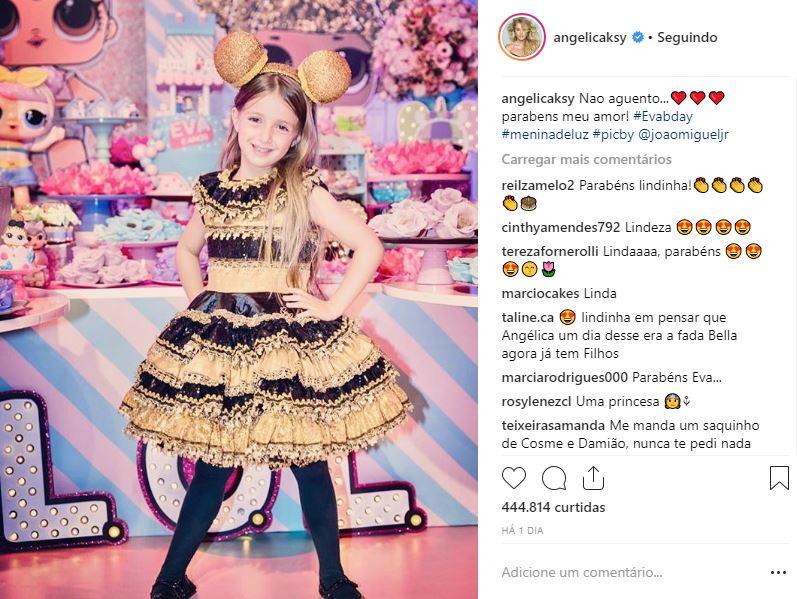 O tema da festa de Eva foi Bonecas LOL (Foto: Reprodução/Instagram @angelicaksy)