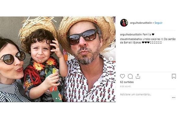 Alexandre Nero publicou foto com o primeiro filho Noá (Foto: Reprodução/ Instagram @orgulhobrusttolin)