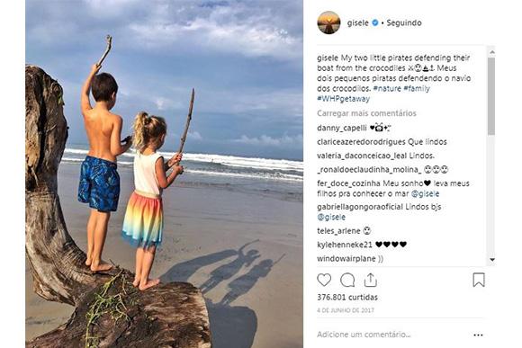 Filhos de Tom Brady e Gisele Bundchen (Foto: Reprodução/ Instagram @gisele)