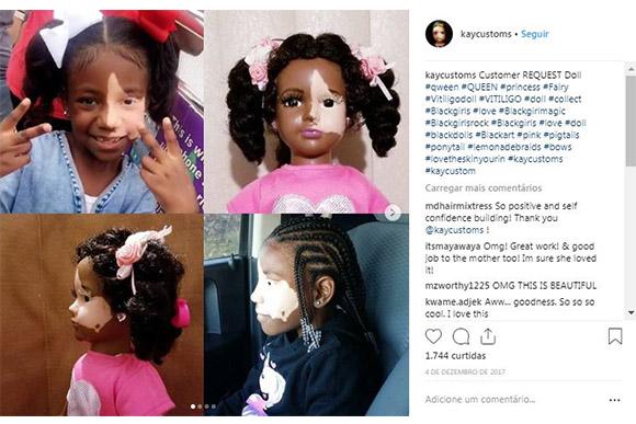 A artista também faz bonecas customizáveis (Foto: Reprodução/ Instagram @kaycustoms)