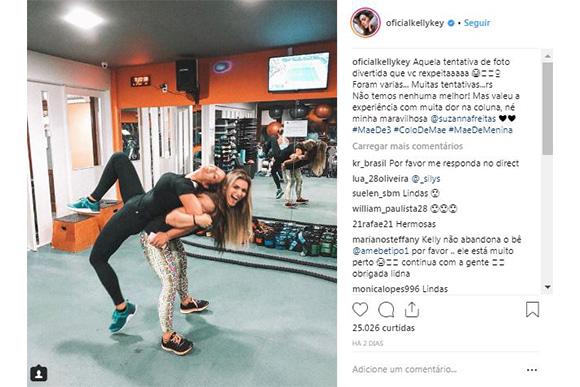 Kelly Key e filha treinando assustam seguidores com semelhança (Instagram: Foto/ Reprodução @oficialkellykey)