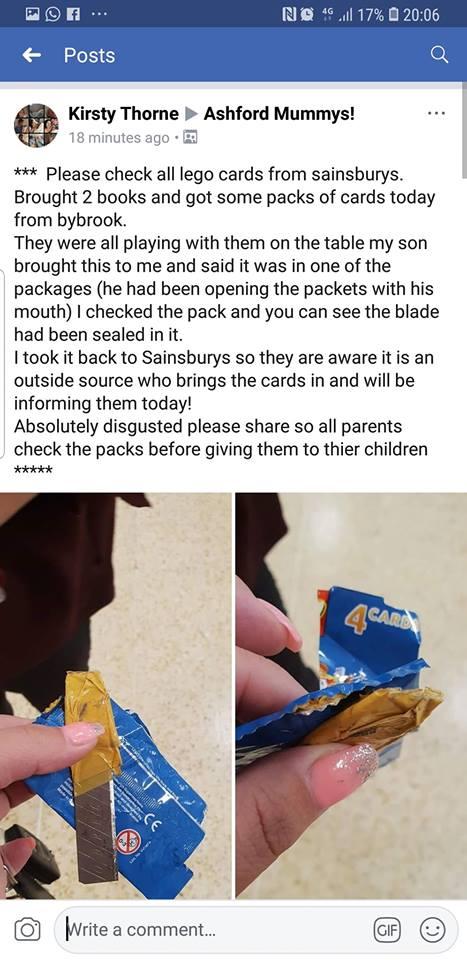 O pacote estava sendo aberto por um de seus filhos (Foto: Reprodução/Facebook)