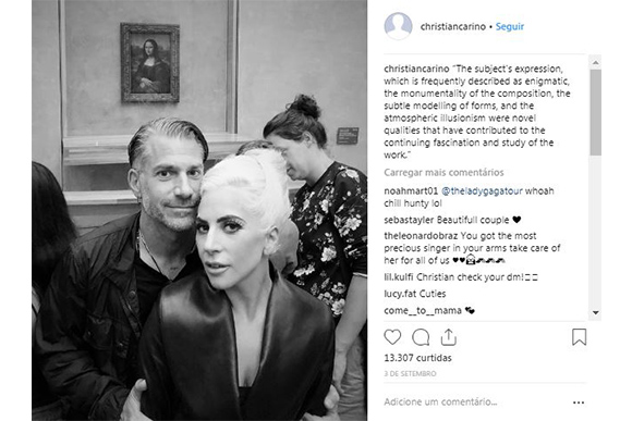 Lady Gaga e noivo Christian Carino estão juntos desde 2017 (Foto: Divulgação/ Instagram @christiancarino)