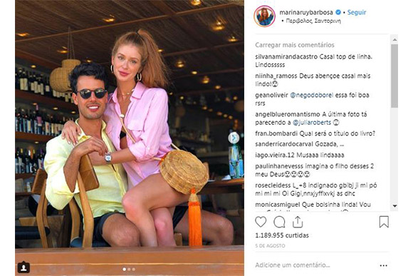 Marina Ruy Barbosa revela que quer esperar alguns anos para ter filhos com seu marido (Foto: Reprodução/ Instagram @marinaruybarbosa)