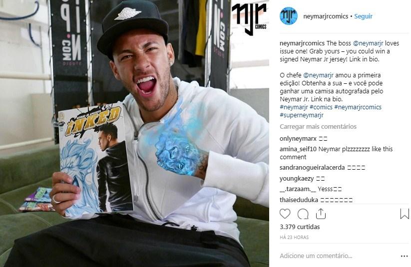neymar-vira-história-em-quadrinho