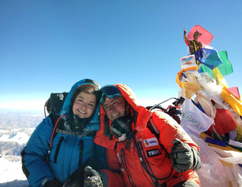 Renato e Ayesha alcançaram o cume da montanha em maio (Foto:Reprodução/El Pais)