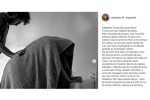 Foto: Reprodução Instagram / @rafabrites