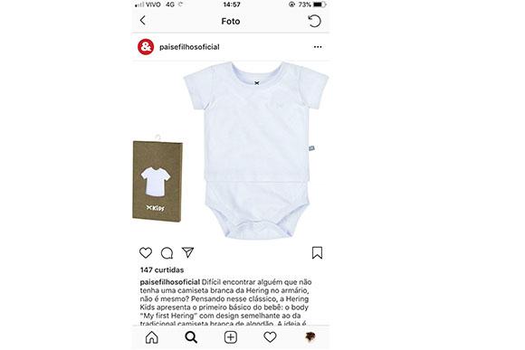 Olha esse body da Hering Kids que graça! O lançamento é a versão míni da tradicional camiseta básica de algodão da marca. Amamos!