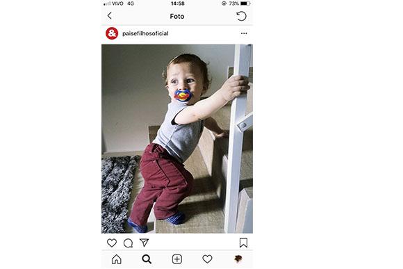 Esse é o Isaac, de 11 meses, fi lho da nossa leitora Vanessa. Mande a foto do seu bebê pra gente, ele pode aparecer por aqui também