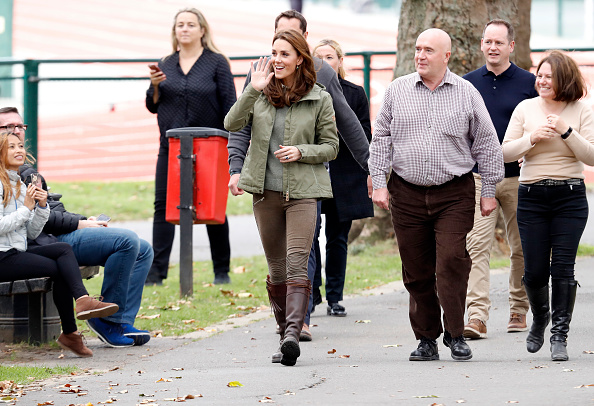 LONDON, ENGLAND - OCTOBER 02: Catherine, Duchess of Cambridge during a visit to Sayers Croft Forest School and Wildlife Garden on October 02, 2018 in London, England. Sayers Croft is an activity centre aimed at educating and involving children and the local community in the environment. (Photo by Chris Jackson/Getty Images)