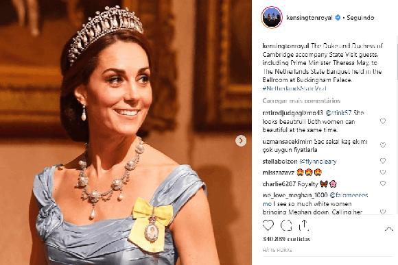 A foto foi postada nas redes sociais da família real. (Foto: Reprodução / Instagram @kensingtonroyal)