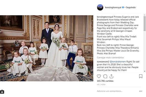 Fotos oficiais do casamenro da princesa Eugene, neta da Rainha (Foto: Reprodução/ Instagram @kensingtonroyal)