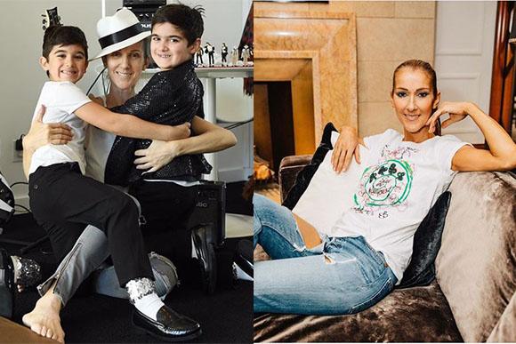 A cantora Céline Dion comemora o aniversário dos gêmeos (Foto: Reprodução/ Instagram @celinedion)
