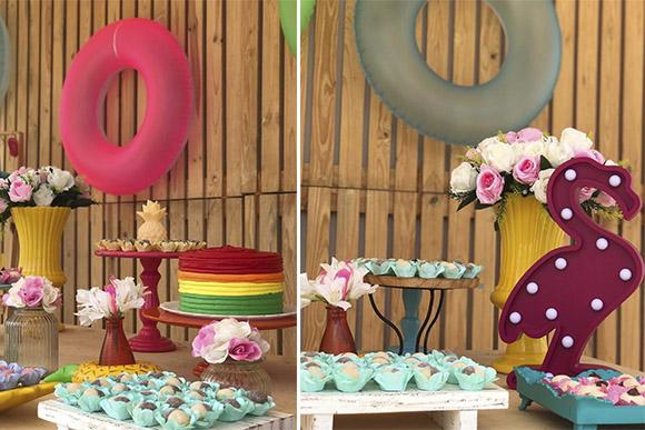 Confira dicas de decoração para fazer a sua festa na piscina (Foto:  Reprodução/ Instagram @caramelo_recife)