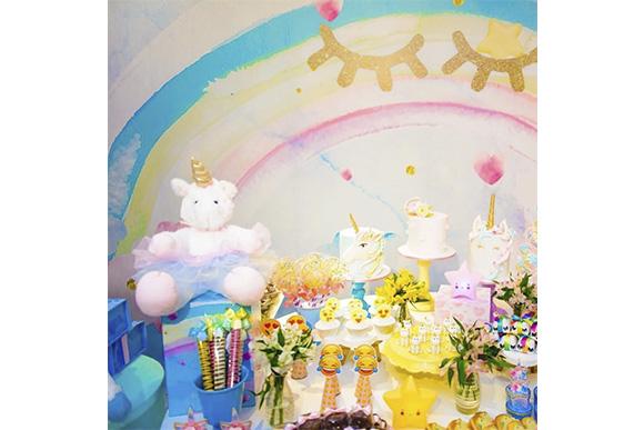 Decoração de unicórnio para festa de 8 anos da filha de Giovanna Antonelli (Foto: Reprodução/ Instagram @giovannaantonellioficial)