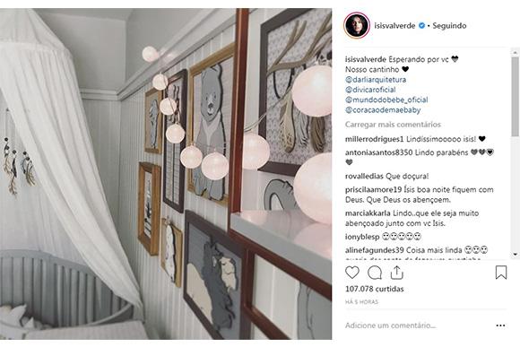 Isis Valverde mostra quarto do bebê (Foto: Reprodução/ Instagram @isisvalverde)