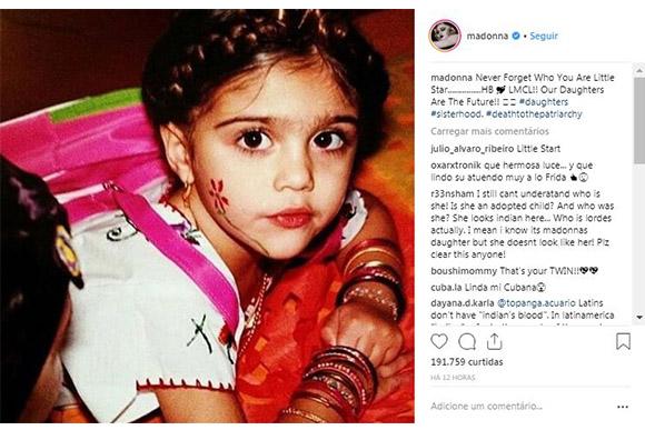 Madonna faz homenagem à filha Lourdes em seu aniversário (Foto: Reprodução/ Instagram @madonna)