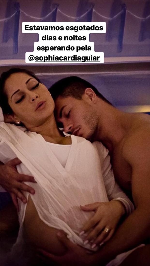 Mayra Cardi compartilha fotos momentos antes de dar à luz Sophia (Foto: Reprodução/Instagram)