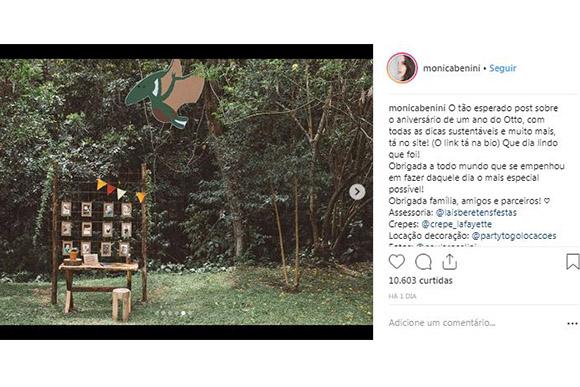 Monica Benini publicou fotos do primeiro anversário de Otto (Foto: Reprodução/ Instagram @monicabenini)