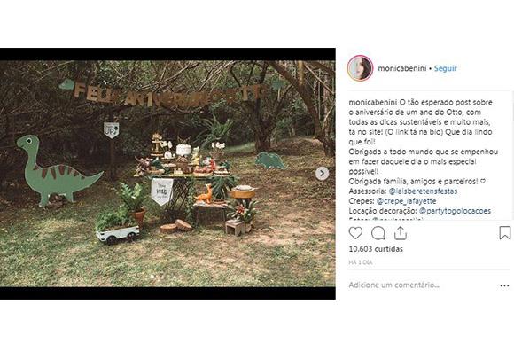 Monica Benini compartilhou com seus seguidores fotos do primeiro anversário de Otto (Foto: Reprodução/ Instagram @monicabenini)