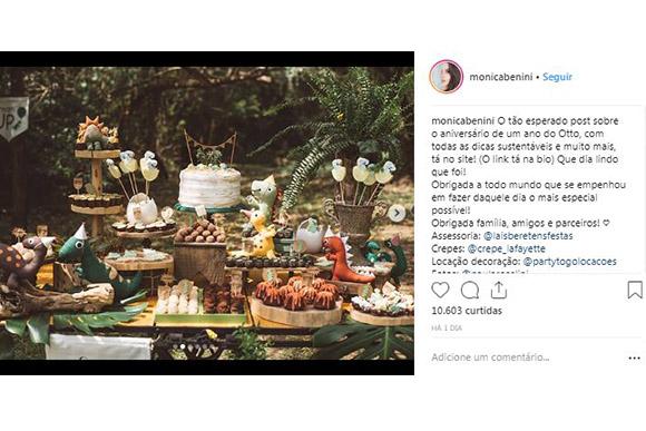 Monica Benini compartilhou com seus seguidores fotos do primeiro anversário do filho (Foto: Reprodução/ Instagram @monicabenini)