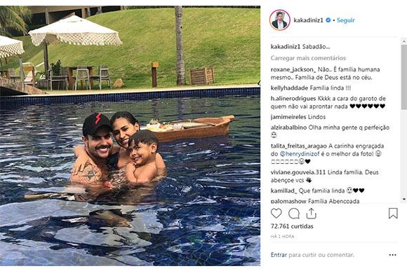 Simone curte tarde em família (Foto: Reprodução/ Instagram @kakadiniz1)