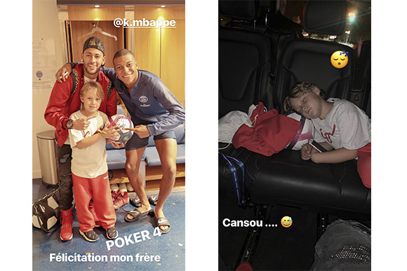 Neymar posta stories com Davi Lucca (Foto: Reprodução/ Instagram @neymarjr)