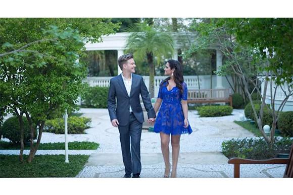 Thais Fersoza mostrou em vídeo no YouTube fotos do seu casamento com Michel Teló (Foto: Reprodução/ YouTube Tatá Fersoza)