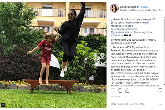 Foto: Reprodução Instagram / @galisteuoficial