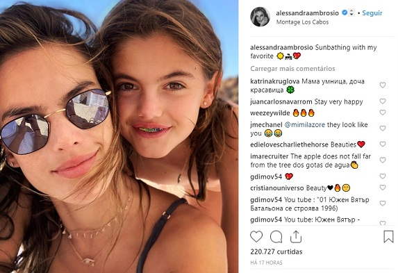 Foto: Reprodução Instagram / @alessandraambrosio