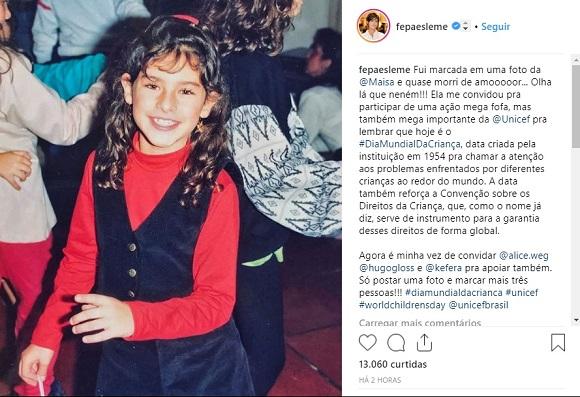 Fernanda Paes Leme | Foto: Reprodução Instagram / @fepaesleme